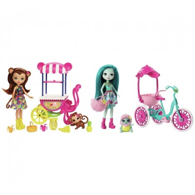 ENCHANTIMALS BAMBOLA CON VEICOLO FJH11 MATTEL